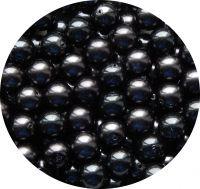 Voskové perle 12mm, hematitová, balení 10 ks