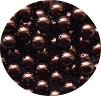 Glass pearls 14mm, brown, packing 5 pcs