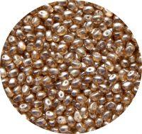Voskové perle, tvar 06x04mm, světle hnědá, balení 30 ks