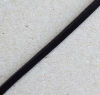 Kord z hovězí kůže, 3x2mm, černá, balení 1m