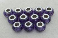 Velkodírová korálka, vel.14x09mm, ametyst, balení 1 ks