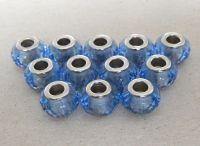 Velkodírová korálka, vel.14x09mm,světle modrá, bal 2 ks