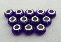 Velkodírová korálka, vel.14x09mm,kobaltově modrá, 2 ks