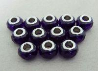 Velkodírová korálka, vel.14x09mm, modrá, balení 2 ks