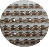 Fire polished beads 02mm, topas with white luster, packing 60 pcs