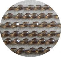 Broušené korálky 02mm, topaz s bílým listrem, balení 60 ks