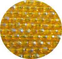 Fire polished beads 03mm, jonquil ab, packing 60 pcs