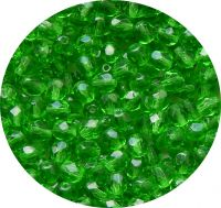Fire polished beads 04mm, emerald, packing 60 pcs