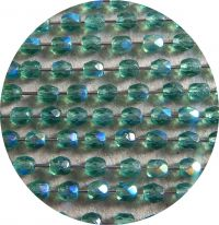 Fire polished beads 04mm, emerald AB, packing 60 pcs