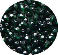 Broušené korálky 04mm, emerald, balení 60 ks