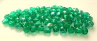 Fire polished beads 04mm, emerald with AB, packing 60 pcs