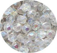 Broušené korálky 05mm, krystal AB, balení 30 ks