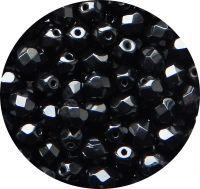 Broušené korálky, 05mm, černá, balení 30 ks
