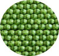 Broušené korálky 05mm, zelená sytá dvoubarva, balení 30 ks