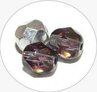 Broušené korálky - krystal s pokovem heliotrope, 6mm, balení 30 ks