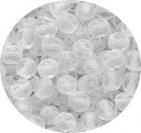 Broušené korálky 06mm, krystal mat, balení 30 ks