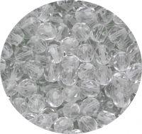 Broušené korálky 06mm, krystal, balení 30 ks