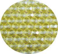 Broušené korálky 06mm, jonquil mat, balení 30 ks