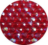 Fire polished beads 07mm, siam AB, packing 30 pcs