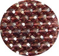 Broušené korálky 08mm krystal s fialovým listrem balení 20 ks