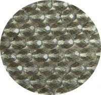 Broušené korálky 08mm, barvený tmavý diamant, balení 20 ks