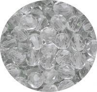 Broušené korálky 09mm, krystal, balení 15 ks