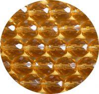 Broušené korálky 10mm, topaz, balení 10 ks