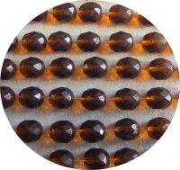 Broušené korálky 10mm, tmavý topaz, balení 10 ks