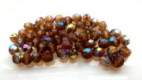 Fire polished beads 10mm, sm.topas AB, packing 10 pcs