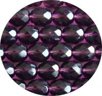 Fire polished beads 10mm, amethyst, packing 10 pcs