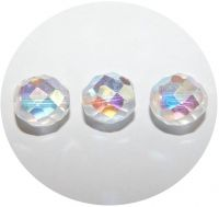 Fire polsihed beads 11mm, crystal AB, packing 10 pcs