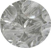 Broušené korálky 12mm, krystal, balení 10 ks