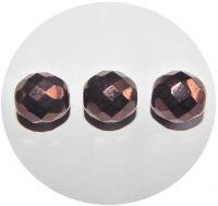 Broušené korálky 12mm, tmavý bronz, balení 10 ks
