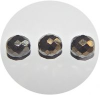 Fire polished beads 12mm, jet valentinit, packing 10 ks