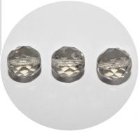 Broušené korálky 12mm,  tm.diamant, balení 10 ks