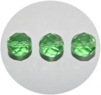 Fire polished beads 12mm, peridot, packing 10 pcs