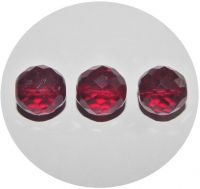 Fire polished beads 14mm, garnet, packing 5 pcs