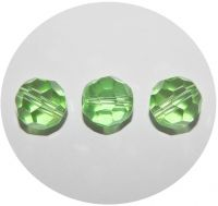 Fire polished beads 14mm, peridot, packing 5 pcs