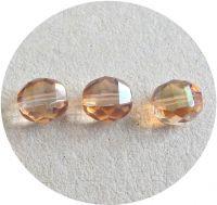 Broušené korálky, tvar 10mm, krystal s celsianem, balení 10 ks