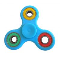 Finger hand spinner, size 75x75mm, blue, packing 1pc