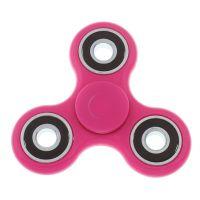 Fidget spinner, vel.75x75mm, růžová, balení 1ks