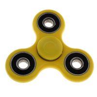 Fidget spinner, vel.75x75mm, žlutá, balení 1ks