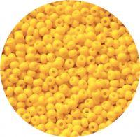 Český rokajl, sytě žlutá, 3-0 (5,3- 5,8mm), balení 25g