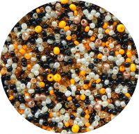 Český rokajl, černo-žlutý mix, 2-3mm, balení po 25g
