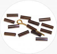 Czech rocailles bugles, brown, size 6,7x2mm, packing 25g