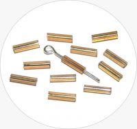 Rokajlové tyčinky, pozlacené se stříbrným průtahem, vel. 6,7x2mm, balení 25g