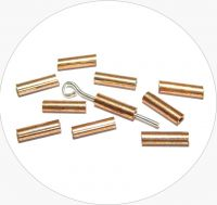 Rokajlové tyčinky, metalické pozlacené, vel. 6,7x2mm, balení 25g