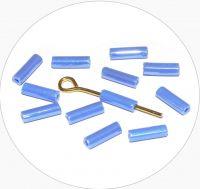 Rokajlové tyčinky, modré s listrem, vel. 6,7x2mm, balení 25g