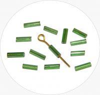 Czech rocailles bugles, green, size 6,7x2mm, packing 25g