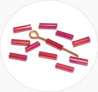 Rokajlové tyčinky, červené s AB úpravou, vel. 6,7x2mm, balení 25g